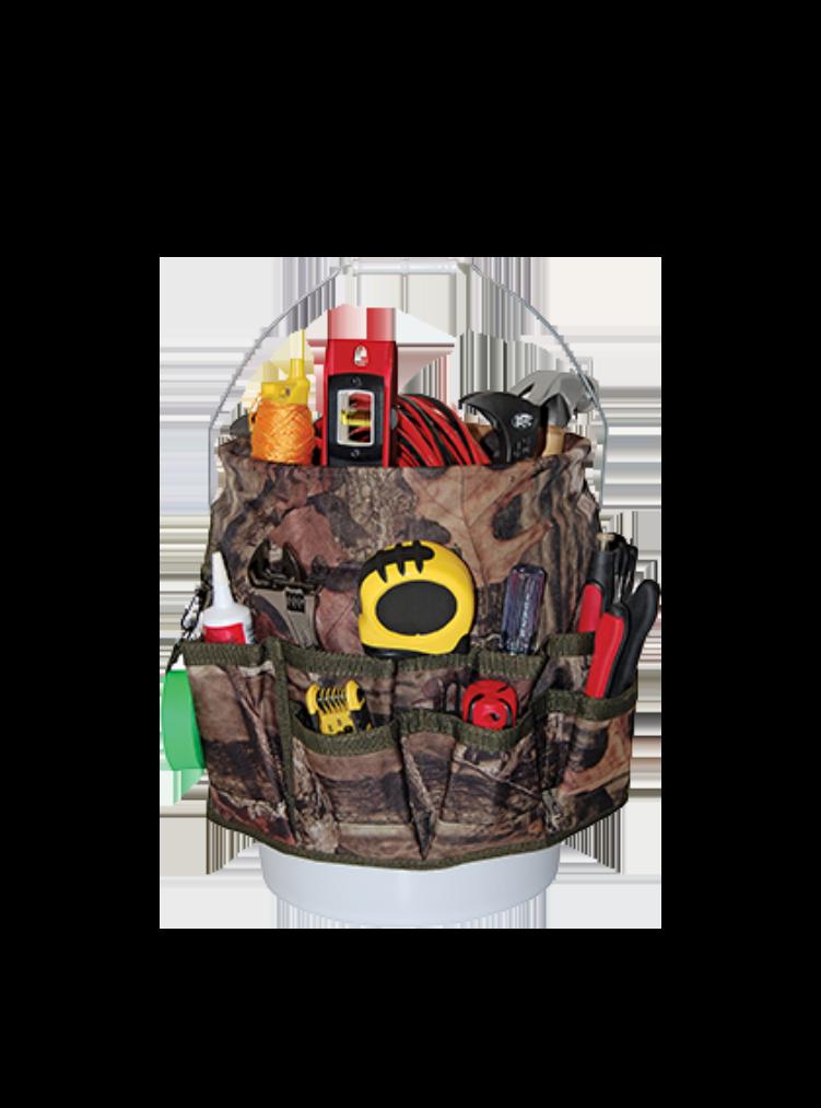 Camo Werkzeugtasche mit Eimer