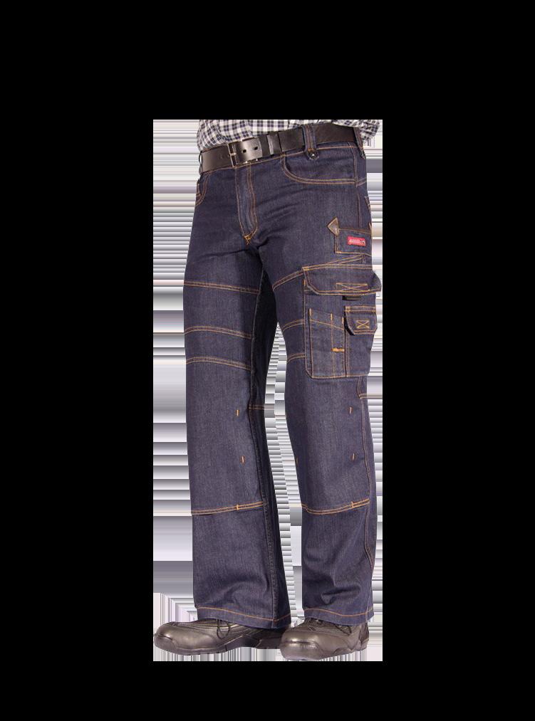 HARI Zunfthose Jeans Stretch mit einem Reißverschluss