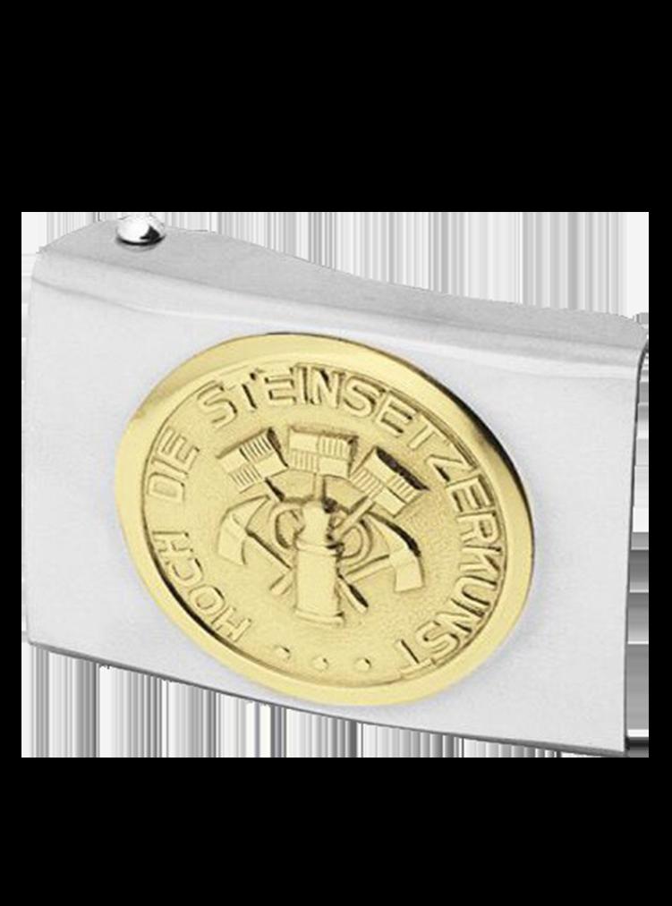 Koppelschloss mit Steinsetzer Emblem