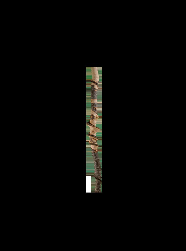 Naturgedrehter Stenz, 129 cm lang