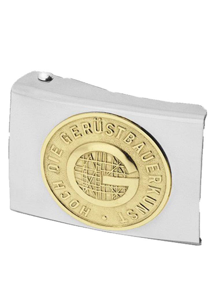 Koppelschloss mit Gerüstbauer Emblem