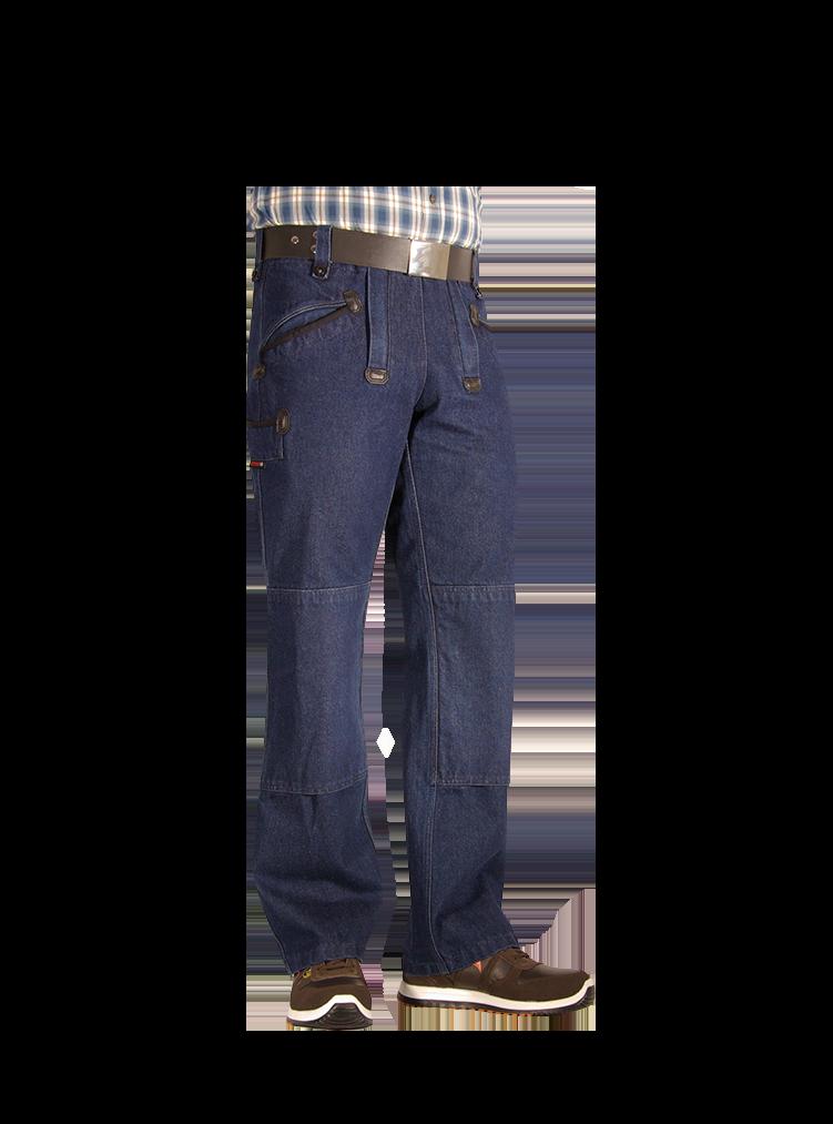 FLORIAN Zunfthose Jeans mit verdeckten RV