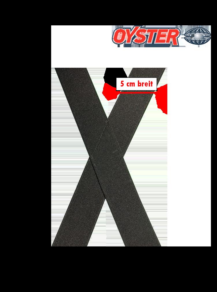 Hosenträger einfarbig, X-Form, 50 mm breit