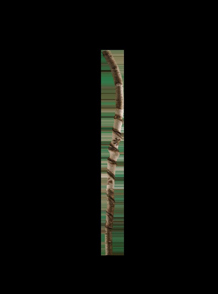 Naturgedrehter Stenz, 132 cm lang